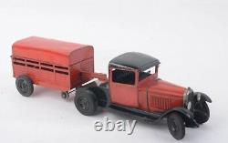 Jouets André Citroën -1933- Camion C4 + remorque bétaillère