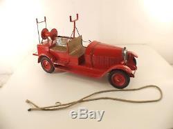 Jouets Citroën n° 565/90 CITROËN C4 Autopompe 1930 tôle tin toy 46 cm RARE