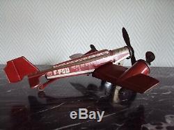 Joustra Ancien Avion En Tole F-pou