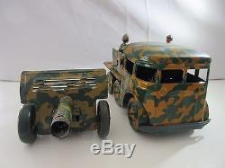 Joustra Berliet Camion Avec Canon Tres Rare Original -jouet Ancien