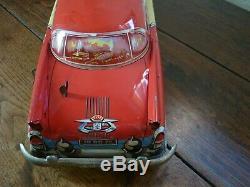 Joustra Limousine Commander Jouet Ancien Vintage Tôle 42 CM Tin Toy Car