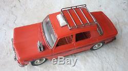 Joustra Rare Renault R8 Taxi Rouge Ancienne Vintage Etat Superbe Fonctionne