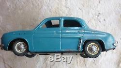 Joustra Renault Dauphine Electrique Tôle Ancien Jouet Vintage Tin Toy Car