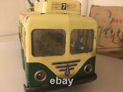 Joustra tole trolleybus ancien vintage Gds Magasins idem CIJ JRD