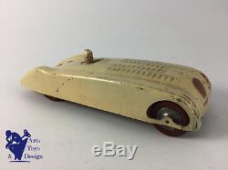 Jrd Voiture De Course Bugatti 57g Le Mans Jouet Ancien Tole Mecanique 1938 18cm