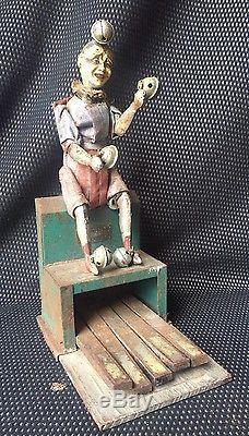 Le Clown Orchestre Jouet Anime V. B. Victor Bonnet Successeur De Fernand Martin