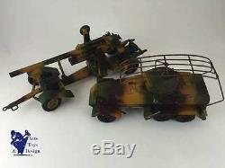 Lineol C. 1936 Canon Flak 88 Gun Ref 1230 Jouet Militaire Ancien Antique Tin Toy