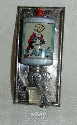 Lot de 3 Jouets Enfant ancien/ moulin à café mural miniature poupée dinette