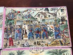 Loto Animé Jeux de Société Ancien Lithographiée Jouet Antique French