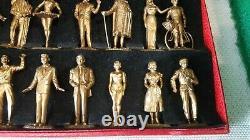 MOKALUX rare coffret de 16 figurines jouet ancien