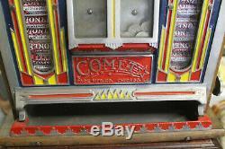 Machine à sous COMET année 30, parfait état de fonctionnement, forain, casino