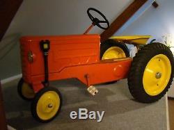 Magnifique Tracteur Voiture A Pedales Annees 60 Origine Tole