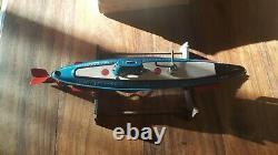 Marusan Toys, Japon sous-marin SSN-58 Nautilus mécanique L. 32 cm vintage