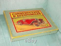 Meccano Vintage Ancien D'avant Guerrerare Coffret Voiture N°1 A Moteur 1930