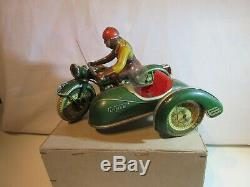 Moto Side Car Tippco De 59 Magnifique Original Jouet Ancien