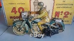 Moto cko union cord mecanique tole ancien