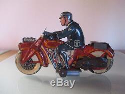 Moto tole mécanique Mettoy GB 1930 Excellent état. Pas JML Tippco. Arnold SFA