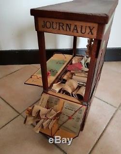 Nicolas & Keller Postes et télégraphes Jeu ancien 1910 kiosque à journaux poupee