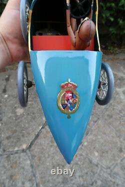 Paya Bugatti del Rey Tole Peinte 48 Cm Expo Universelle Seville 1992 Rare