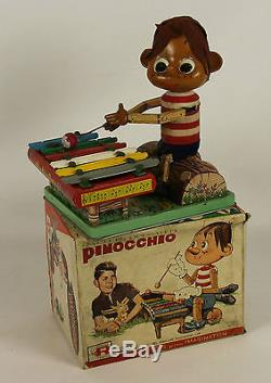 Pinocchio. Batteries Automates À Tin Et Le Bois. Jouets Rosko. Japan. 1962