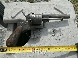 Pistolet ancien type lefaucheux gravure