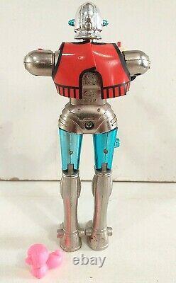 Popy France Capitaine Flam Grag Glague GA 97 Robot métal complet loose vintage