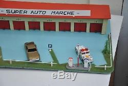 RARE ANCIEN GARAGE 8 BOX ESSO DEPREUX pour voitures DINKY, CORGI, NOREV, CIJ
