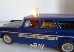 RARE JOUSTRA PEUGEOT 404 GENDARMERIE BREAK 30cm TOLE circa 1960 ETAT NEUF