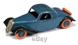 RARE Jouet André Citroën Traction coupé mécanique bleu et noir