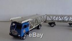 RARE MERCURY FIAT 682 Camion Transporteur auto remorque Bleu D'ORIGINE 1/50