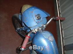 RARE MOTO DE MANEGE ANNEES 50 bidon huile oil shell bp esso pompe pump tanksaule