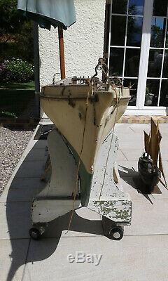 RARE Maquette Bateau Voiliers de bassin Goelette à hunier