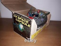 RARE New space capsule -Jouet ancien métal 60's made in Japan Battery operated