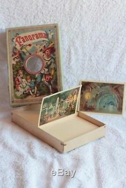 RARE ancien jeu jouet d'optique PANORAMA France SR 1920 relief visionneuse boite