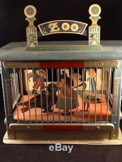 RARE ancien jouet Zoo tôle peinte fabrication allemande 1880-90 Superbe