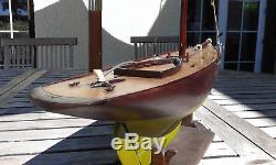 RARE bateau canot voilier de bassin