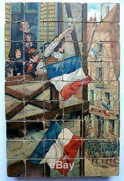 RARE et Ancien Jeu de 54 Cubes Illustrations De JOB et HARRY ELIOTT 33.6x22.5cm