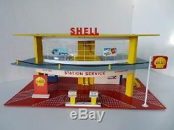 Rare Ancien Garage Station Service Mgf Shell / Marchal En Carton D'origine