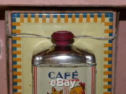 Rare Ancien Jouet Coffret De Dinette En Alu Pour Enfant Moulin A Cafe Mural Tole