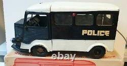 Rare CHR Citroën Tube HY Police en boite jouet ancien en tôle époque JRD CIJ