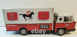 Rare Camion Bernard Royal Turf spécial Tiercé neuf Joustra jouet ancien en tôle
