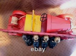 Rare Grand Camion Pompiers Renault Cij Tole 4 Pompiers Jouet Citroen Jep Jrd Cr