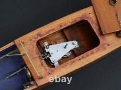 Rare Grand Canot Racer Kellner Maquette Naviguante Jouet Ancien Annees 1925