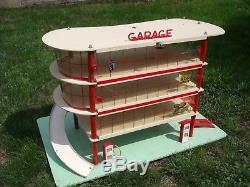 Rare Grand Garage Station Service Mobil De Marque L. A. Pour 1/43
