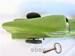 Rare Grande Voiture Nervasport Renault Tôle Mecanique A Clef Old Car Toy 1930