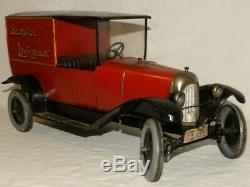 Rare Jouet Ancien Tole Camion Citroen B2 Mecanique Service De Livraison Jrd Cij