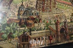 Rare Puzzle Vertical Tour Eiffel 98 Cm + Boite France 1889-90 Expo Universelle