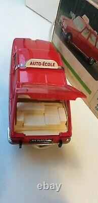 Rare Renault 16 auto-école téléguidé neuve en boite jouet ancien tôle plastique