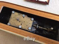 Rare canot de bassin mécanique ancien 1950 bateau jouet bois