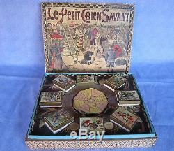 S377 Saussine Jeu Le Chien Savant Magnetique 1875 Rare